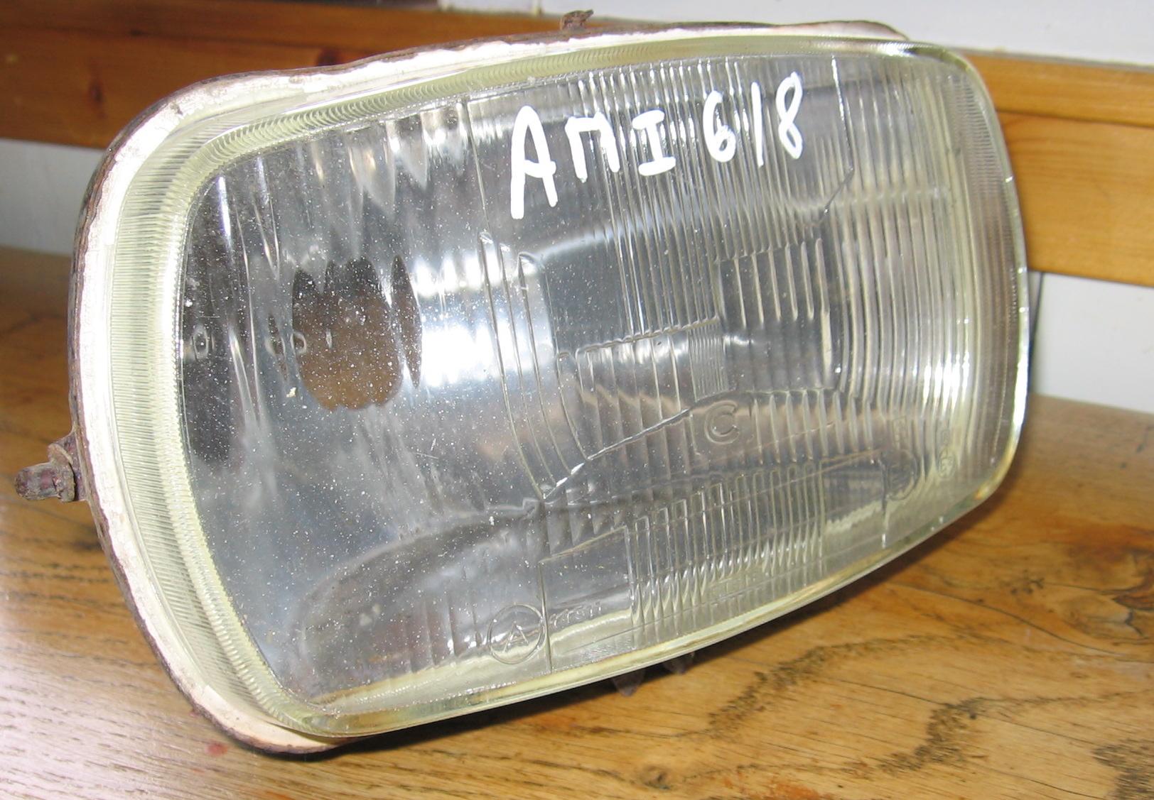 OD0394 Koplamp + reflector, origineel, staat: gaaf, voor Ami 6 en 8 (eventueel ook te koop als set met OD0374)