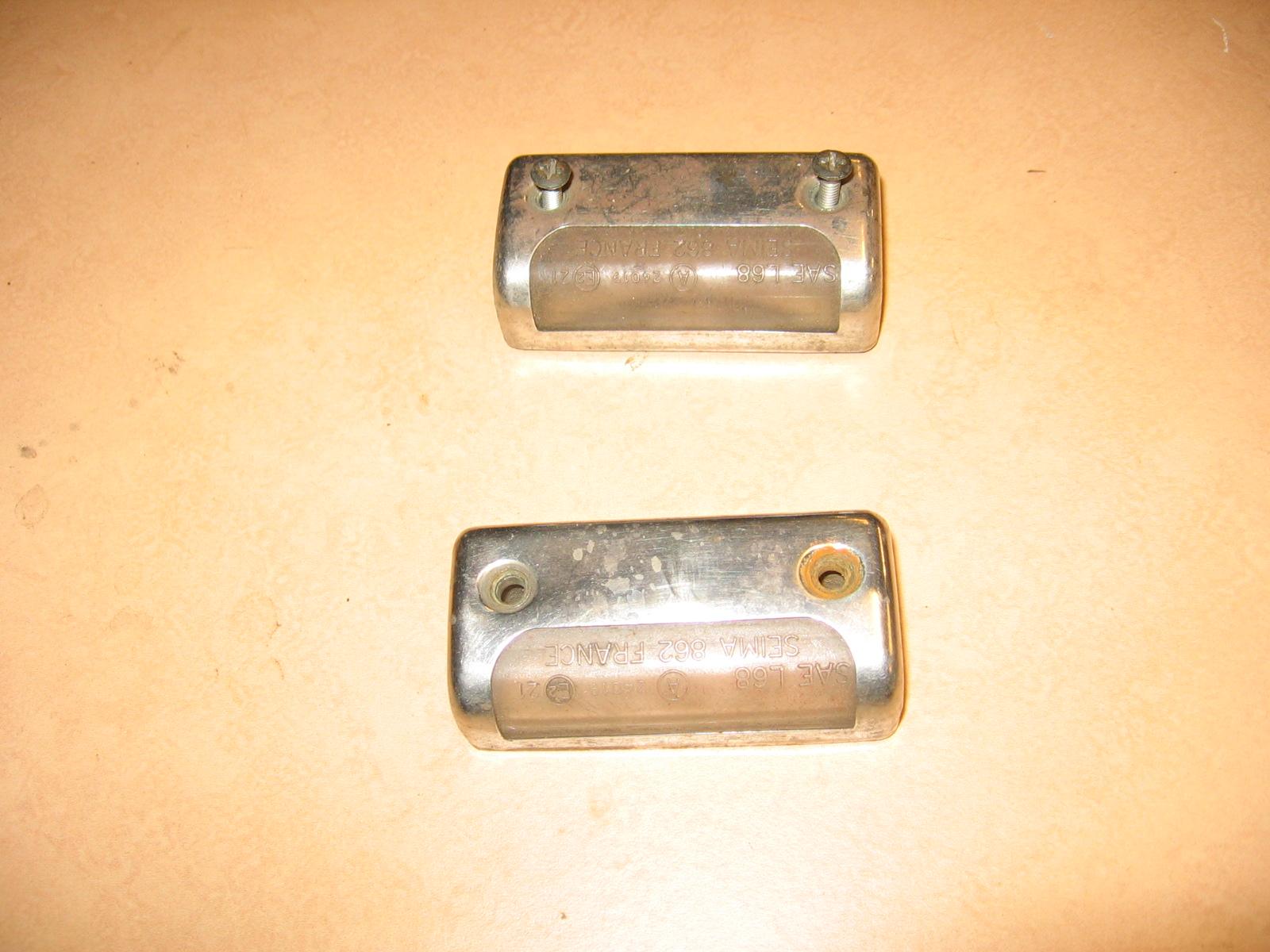 OD0458 kapjes kentekenplaat-verlichting in de achterbumper Ami 8, met glas