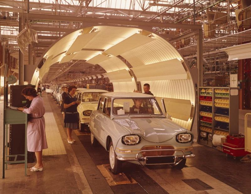 Ami 6 lakinspectie fabriek Rennes-la-Janais