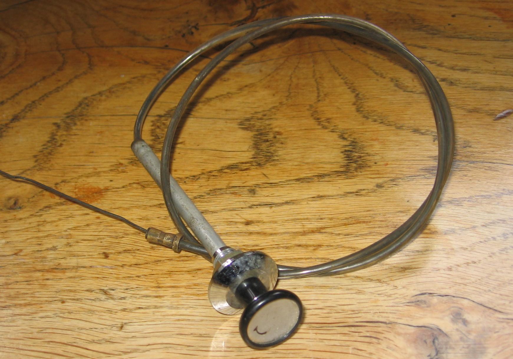 OD0408 Choke-kabel, met zilverkleurige rand aan het dashboard, voor Ami 6