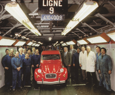 laatste Franse eend fabriek Levallois-Perret