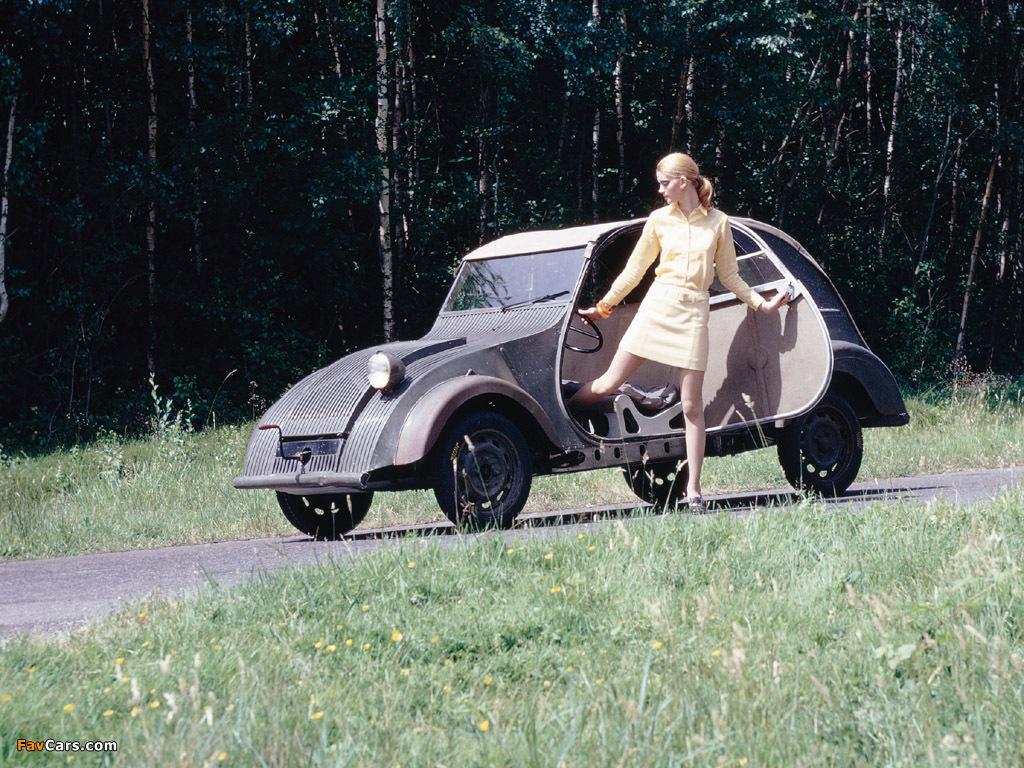 prototype 2cv met dame 1