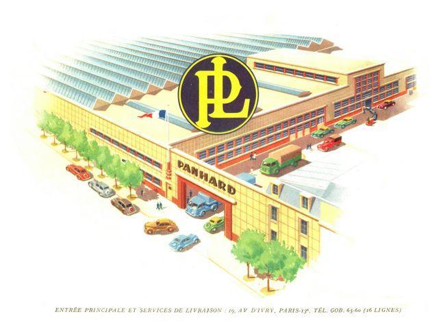 tekening fabriek Panhard
